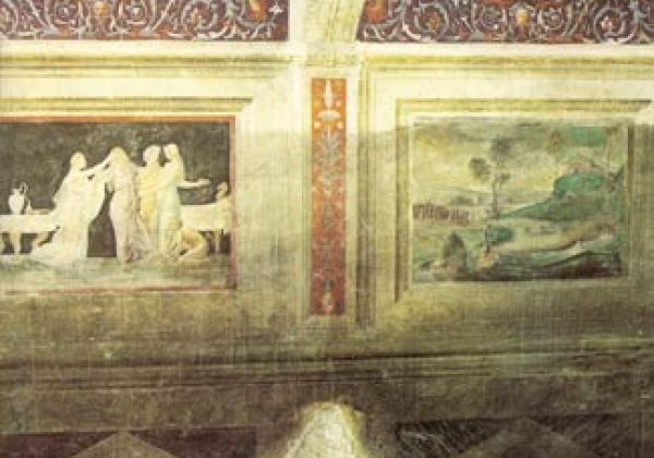 Chamber of Ovidio - Detail east wall